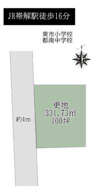 奈良市横井町:土地 間取り図