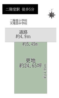 天理市二階堂上ノ庄:土地 間取り図