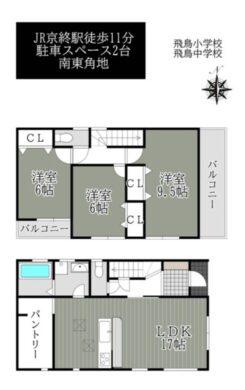 奈良市 南紀寺町 5丁目21-1期-2号棟:新築戸建 間取り図