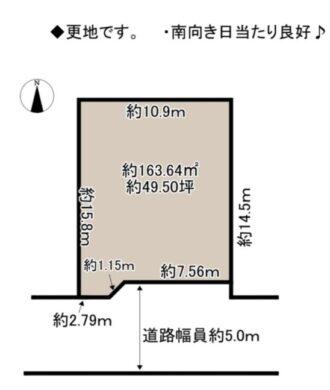奈良市 五条西 第2-2号地 :土地 間取り図