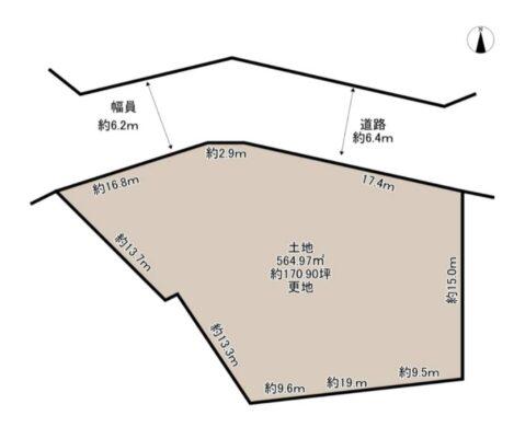 奈良市 百楽園 4丁目 :土地 間取り図