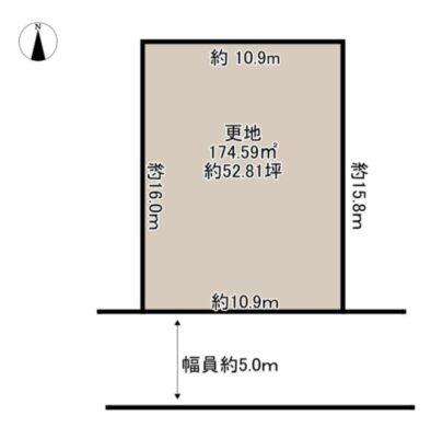 奈良市 五条西 第2-1号地 :土地 間取り図