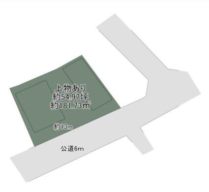 奈良市 六条西 :土地 間取り図