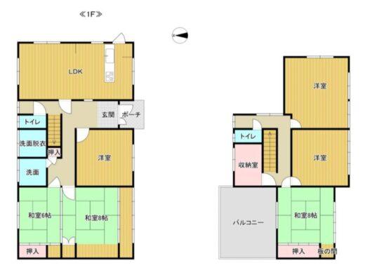 奈良市敷島町1丁目:中古戸建 間取り図