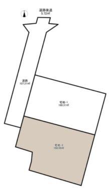 奈良市 中山町2号地 :土地 間取り図
