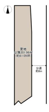 奈良市 南肘塚町 :土地 間取り図