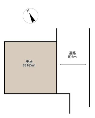 奈良市 学園朝日元町 :土地 間取り図