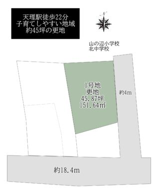 天理市別所町:土地 間取り図