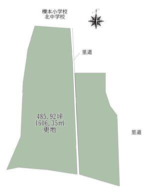 天理市櫟本町:土地 間取り図