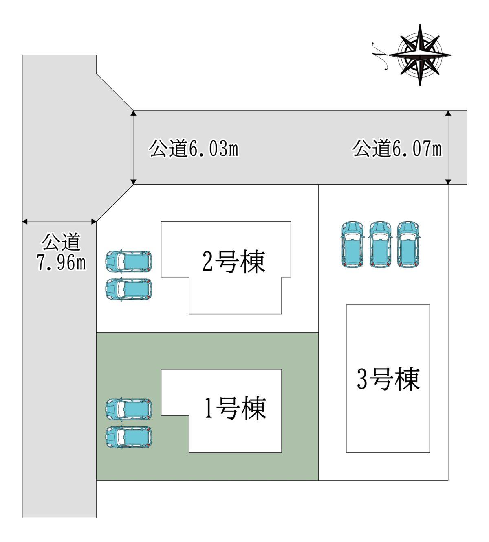 奈良市神功2丁目1号棟:新築戸建
